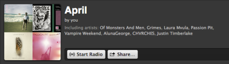 I plan on putting out monthly playlists. You can listen to this month's by clicking the image.