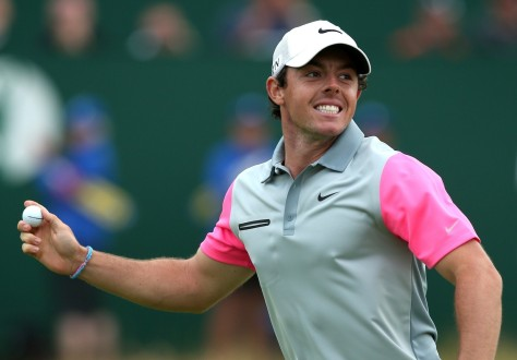 McIlroy celebrates holing his final putt at The Open / AFP PHOTO / ANDREW YATESANDREW YATES/AFP/Getty Images