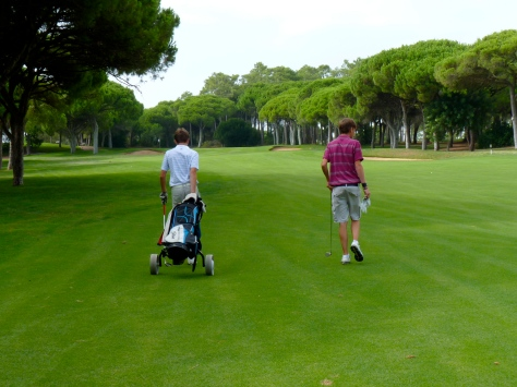 My brother and I playing golf at Vila Sol, Portugal / 2011