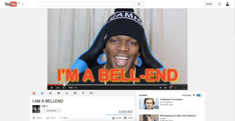 KSI announcing via video that he's writing a book via typing